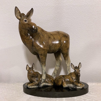 Picture Perfect, (moose family)-$5975 with stone base